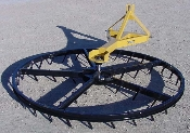 Model MKTG-8 tractor mounted rotary harrow with 8 ft. diameter wheel