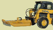 Model MKSSTC60B hydraulic powered, skid loader mounted brush mower, requires 14-16 gpm, and cuts material up to 2 inches in diameter.