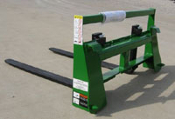 Model WOJDPF-2000 integrated pallet frame fork assembly for mounting exclusively on John Deere 200 and 300 series front end loaders.