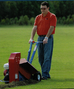 Model EZ9100 Groundsaw Trenching Machine by EZ-Trench. Cuts a 2.5 inch wide trench from 0 to 13 inches deep