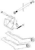 "HK-226 Two Point to three point conversion kit for IH/Farmall 240 (2 pt. hitch with 3"" long prongs required)"