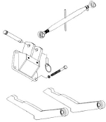 Model HK-326 Two point hitch conversion kit for IHC/Farmall C, Super C, 200, 230 with 2 1/2 inch prongs
