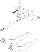 Model HK-426 two point hitch to three point hitch conversion kit for IHC/Farmall 544 and 656 models