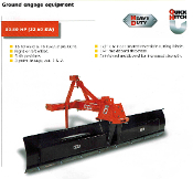 Model BRB-284 Heavy Duty Series Model, 84 inches wide, for tractors with category 1 or 2 hitches from 30 to 80 hp