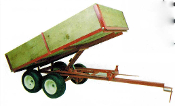 Model 6500 Tandem axle trailer with 6 ft. long x 38 inches wide bed optional dump kit is available
