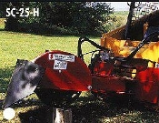 SHSC-25 Stumpbuster hydraulic powered, skid steer mounted stump grinder