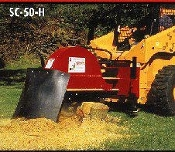 SHSC-50H Skid Steer Mount Hydraulic Powered Stump Grinder