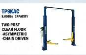 Two post automotive/vehicle lift with 9000 lbs. capacity, model TP9KAC