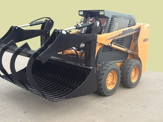 Model LE33227EM Round Hay Bale Grapple, mounts on tractor loaders with Euro/Global bucket mount