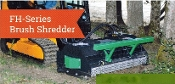 Model 60FH BrushHound Skid Steer/Loader Mounted Hydraulic Drive Brush Mower.