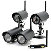 CVOW-I408 Four Wireless Camera System W/USB DVR
