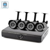 CVZY-I313-2GEN 4 Channel DVR Surveillance Kit W/4 Outdoor Camera
