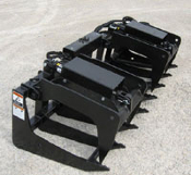 WOETG-26 Skid Steer Mount Double Grapple 72 Inches Wide