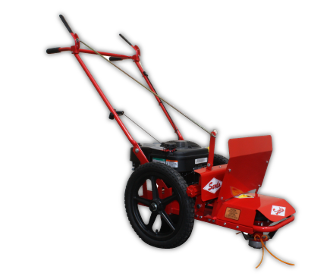 Model SST6SP walk behind string trimmer, self-propelled, powered by an 8.25 ft. bs. torque Briggs engine with recoil start.