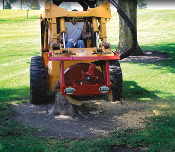 SHSC-30H Hydraulic Stump Grinder Skid Steer Mount