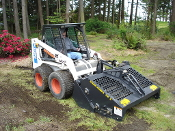 72B RockHound Hydraulic Powered Landscape Rake Skid Steer Mount