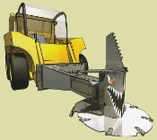 SIDN30TTS12UN-7P Skid Loader Mount Tree Saw