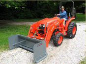 WOSPS-2460M Pusher Plow With Metal Edge 5 Ft. Wide