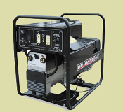 WLWDC190EA welder/generator, cart mounted, 3500 watts maximum, 190 amps DC maximum