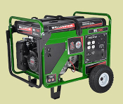 WHS7000 Wallenstein Generator with Transport Wheels Honda Engine