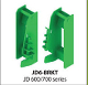 Model JD600/700 weld-on quick attach bracket set for John Deere 600 and 700 series tractor loaders with quick attach style bucket connections.