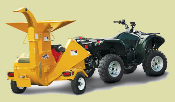 Model 3209 Engine Powered Trailer Mounted Wood Chipper