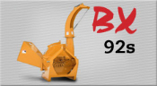 Model BX92S Tractor Mounted PTO Powered Wood/Brush Chipper With Self-Feed Hopper And 10 Inch Limb Capacity