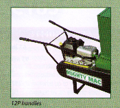 Model 12P1100 Wood Chipper/Shredder With Wheelbarrow Type Handles