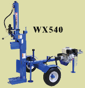 Model WX540-L Trailer Mounted, Engine Powered, Horizontal/Vertical Logsplitter.