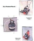 Part No. 10000191 Air Power Pack for Scotsman Paint Striper. Allows you to stripe line 1/2 mile long with one filling of air tank.