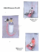 Part No. 10000192 CO2 Power Pack For Scotsman And Fielder model paint stripers. Kit includes 5 lb. CO2 bottle, hose, regulator, and gauge.
