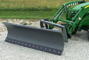 Model WOSBS-2172 snow blade 6 ft. wide to attached to tractor loaders on compact tractors; loader must have universal quick attach connnection for bucket.