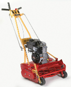 Model 20-5.50GT-7 walk behind, self-propelled standard reel mower with 20 inch cutting width. Powered by a 5.50 Briggs motor with recoil start, and has 7 blade cutting reel. All units come with grass catcher.