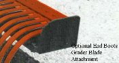 Model 0540 set of end boots for any of the RW grader blade attachments, converts blade into a small box blade.