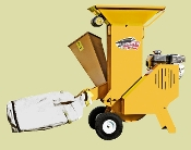Model BXMC32B Gas engine powered chipper/shredder - with blower unit and collection bag to bag the material.
