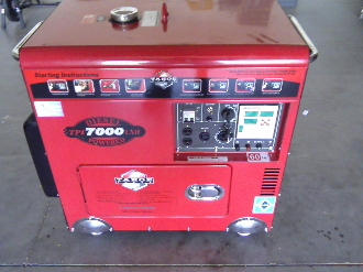 Model TPI7000LXR Diesel Powered 7000 Maximum Watt Generator With Wireless Remote Start, And Includes Battery