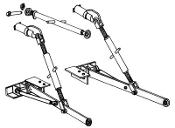 Model HK-202 Category 1 and 2 three point hitch kit to fit John Deere Tractor models 520, 530, 620, and 630.
