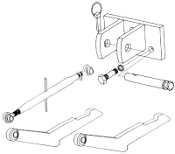 Model HK-726 two point hitch conversion kit to three point category 1 hitch for IHC/Farmall 606