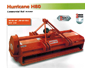 Befco Hurricane H80 Series Flail Mowers, three widths available 72, 88, and 100 inches wide working width