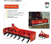 Three Point Hitch Mount Befco Brand Box Scraper For Tractors From 16 to 60 hp, category 1 mount