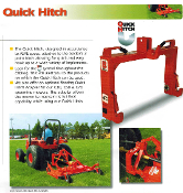 QH1-100 Befco Quick Hitch, category 1, for all Befco and other implements that are quick hitch compatable