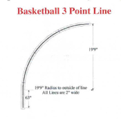 Part No. 10003323 NCAA Basketball 3-point line stencil