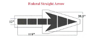 Part No. 10000206 Federal Specification Straight Arrow, 9 ft. 10 inches high x 3 ft. 3 inches wide