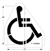 Part No. 10002575 Handicap stencil, 2 piece, 84 inches high x 77 inches wide