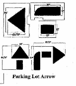 Part No. 10000205 Arrow kit, curved and straight, 3 piece stencil