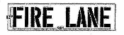 "Part No. 10003848 FIRE LANE stencil 6"" x 32"""