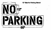 10000568 NO PARKING Stencil 12 inch tall letters