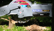 WLS24-S450 Hydraulic powered, skid steer mount stump grinder with swing left to right