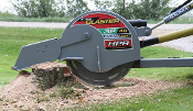 Model WL3P40 Tractor Mounted PTO powered stump grinder for tractors from 60 to 120 hp