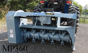 Model WLMP360 Baumalite three point hitch, pto powered brush mulcher with 60 inch cutting width (overall width of mulcher is 72 inches wide)